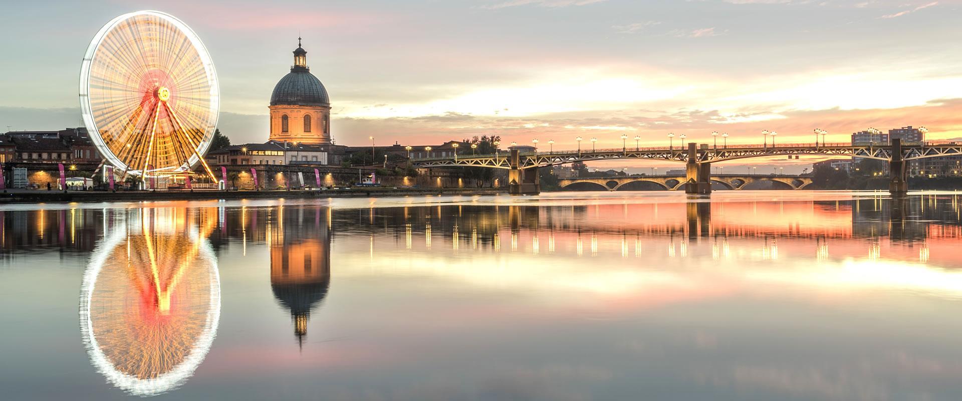 Les bords de Garonne et le dôme de la Grave
