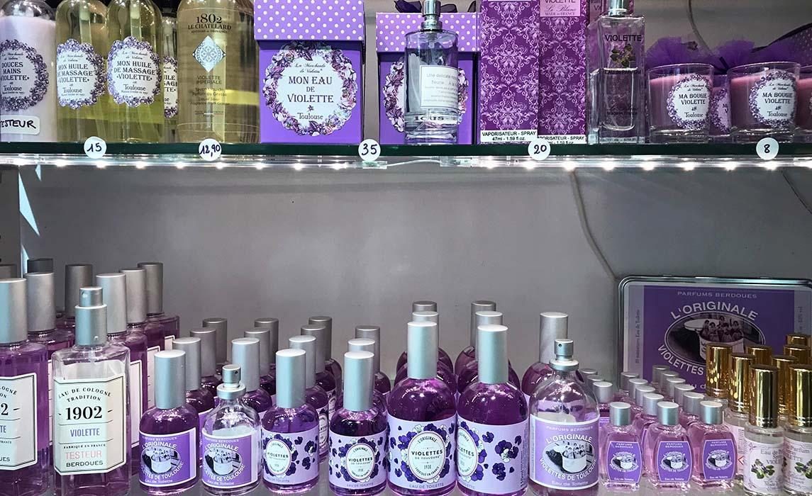 Cosmétique et parfums à base de violette de Toulouse