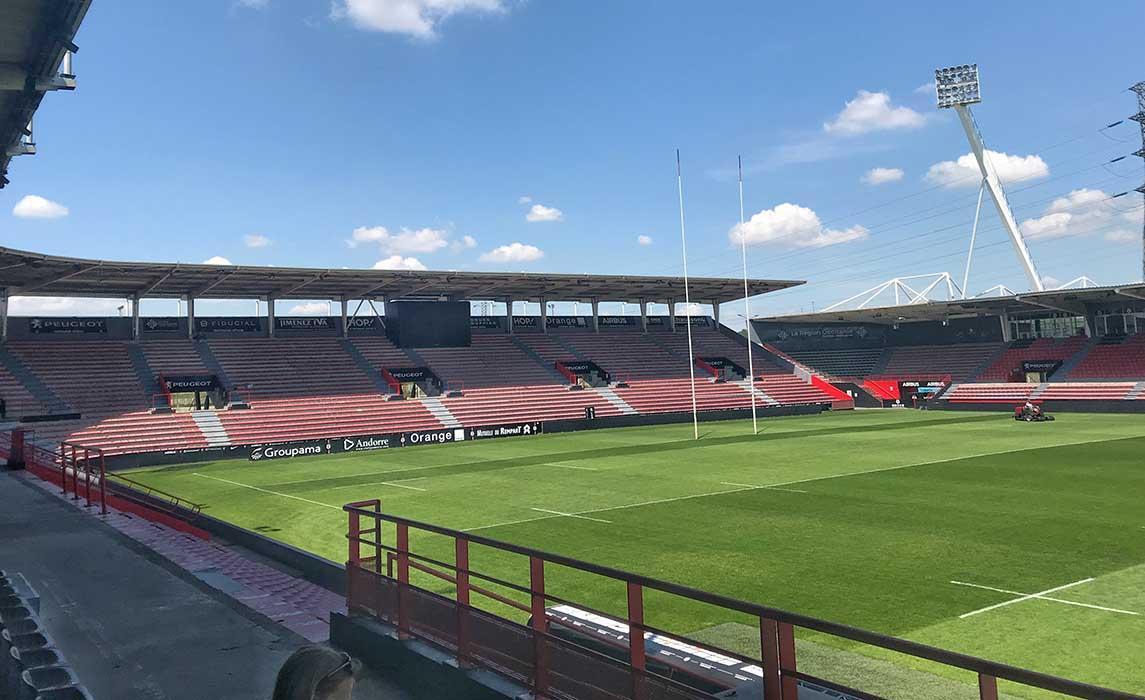 Visite du stade de rugby Ernest Wallon, dans les coulisses du Stade Toulousain