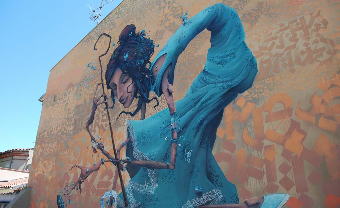 Visiter Toulouse, oeuvre street art de Maye et Mondé