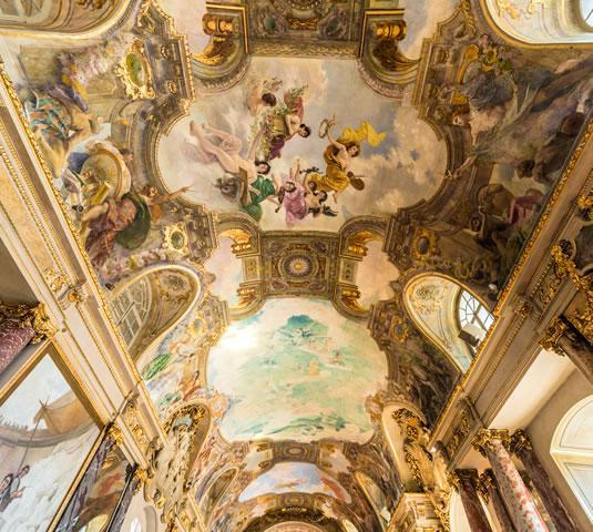 Plafond de la salle des Illustres