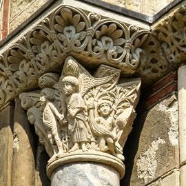 Chapitaux romans de la basilique Saint-Sernin