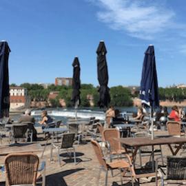 Guinguette Saint-Cyprien vue Garonne Toulouse