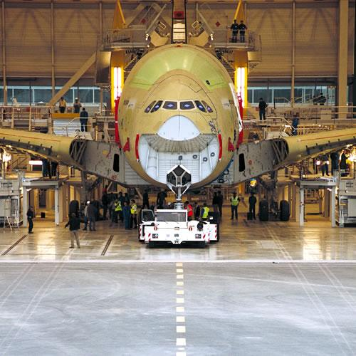 Visite chaîne d'assemblage d'Airbus A380